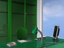 Office green style. 3d rendering office green style Royalty Free Stock Photo