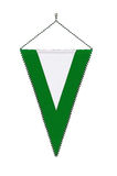 Office green and white pennant or flag Stock Photography