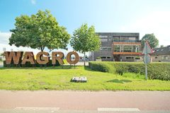 Office and ground storage location of Wagro in Waddinxveen stock photo