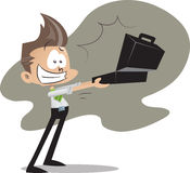 Office guy with briefcase Stock Image