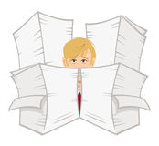 Office guy paperwork Royalty Free Stock Photo