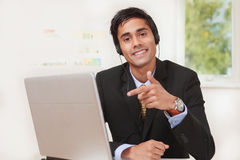 Office guy pointing Royalty Free Stock Image