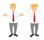 Office guy stressed Royalty Free Stock Photography