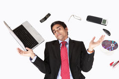 Office guy with technology Royalty Free Stock Photography
