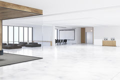 Office hall with a whiteboard Royalty Free Stock Images