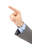 Office hand indicates. Royalty Free Stock Images