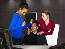 Office Harassment. Workplace problems for workers.  office harassment Stock Photography