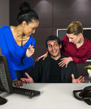 Office Harassment. Workplace problems for workers.  office harassment Stock Images