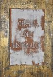 Office of historian sign stock images