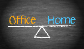 Office and Home - Work-Life Balance Concept Stock Image