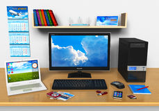 Office/home workplace Stock Image
