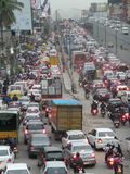 After office hours traffic jam. Traffic jam in Bangalore, India Royalty Free Stock Photography