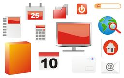 Office icon. Various office icons, 13 office icons Royalty Free Stock Image