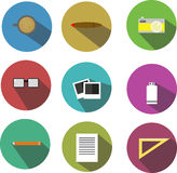 Office icon flat designs Royalty Free Stock Photography
