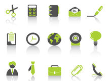 Office icon green series Stock Photo