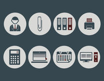 Office icon pack Royalty Free Stock Photography