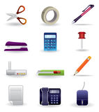Office icon set. Business and Office icons and objects - vector icon set set Royalty Free Stock Photos