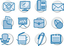 In office Icon set Stock Photography