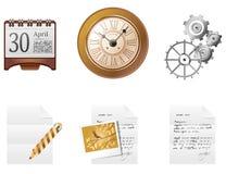 Office icon set. Icon set. Retro style accessories Stock Image