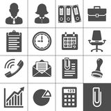 Office Icon Set. Office Icons. Simplus series. Each icon is a single object (compound path Royalty Free Stock Photography