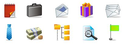 Office icon set. Offise icon set for web designers and websites Royalty Free Stock Images
