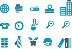 Office Icon Set Royalty Free Stock Photos