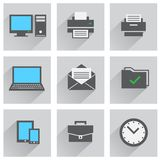 Office icon set Royalty Free Stock Images