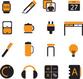 Office icon set 03. This file is about office icon Royalty Free Stock Photo