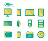 Office icon set. Flat concept Design. Vector eps 10 Stock Image