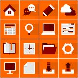 Office icon set. Set of 16 office icons. Vector EPS10 illustration Royalty Free Stock Photo