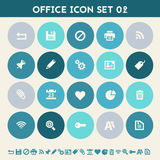 Office 2 icon set. Multicolored flat buttons Royalty Free Stock Photo