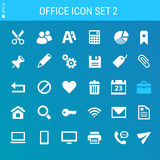 Office 2 icon set. Multicolored flat buttons Stock Images