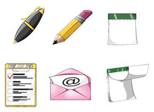 Office icon set 1 - rich detail Stock Image