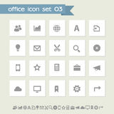 Office 3 icon set. Simple flat buttons Royalty Free Stock Photos