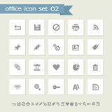 Office 2 icon set. Simple flat buttons Royalty Free Stock Images