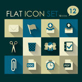 Office icon set. Vector flat style design Royalty Free Stock Photos