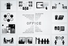 Office icon Royalty Free Stock Images