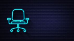 Office icon. Web icon set. Office, great design for any purposes. Motion graphics.