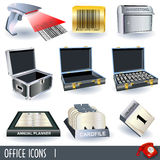 Office icons 1. A collection of color office icons - part 1 Royalty Free Stock Photos