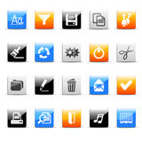 Office icons. Set of 20 glossy office icons Stock Photography