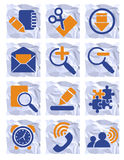 Office icons. Vector illustration, AI file included Royalty Free Stock Image