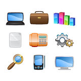 The office icons Stock Image