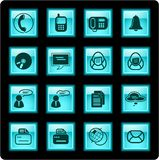Office icons Stock Photography