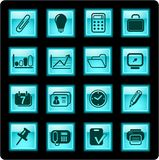 Office icons Royalty Free Stock Photography