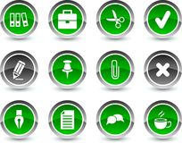 Office icons. Royalty Free Stock Photos