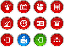 Office  icons. Royalty Free Stock Images