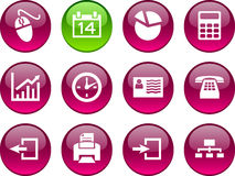 Office icons. Stock Photos