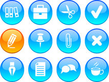 Office icons. Royalty Free Stock Photography