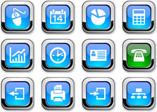 Office Icons. Royalty Free Stock Photo