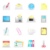 Office icons. On a white background Stock Image
